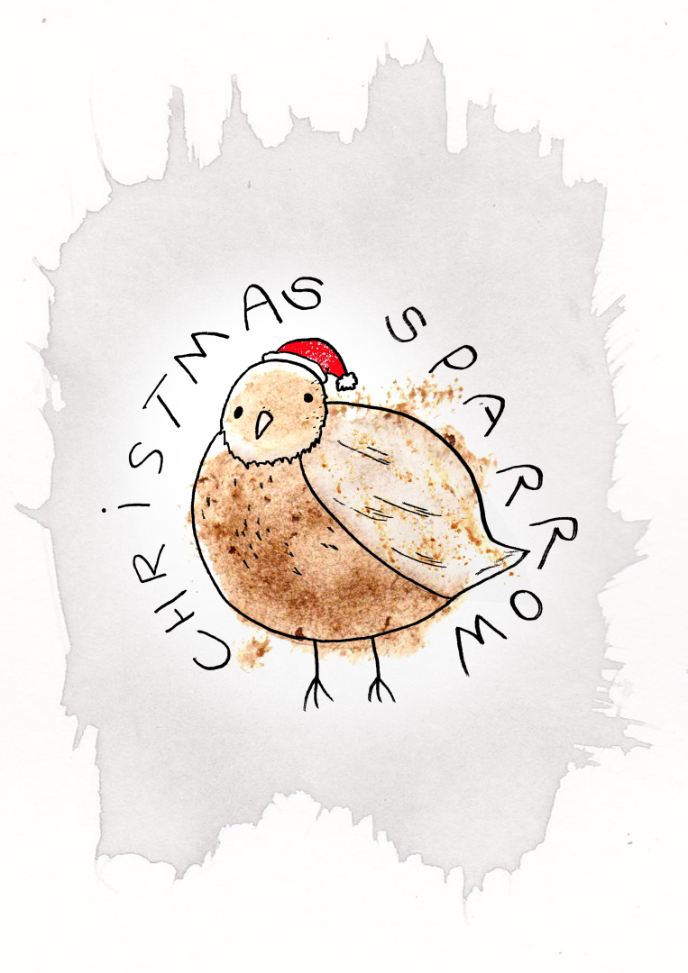 christmascard-sparrow
